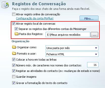 gravar conversas do msn