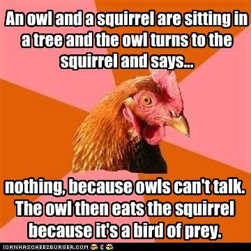 Meta Watershed: JUSTCAPSHUNZ WEEKLY ROUND-UP FOR 16 MARCH 2012 Anti Joke Chicken Meme