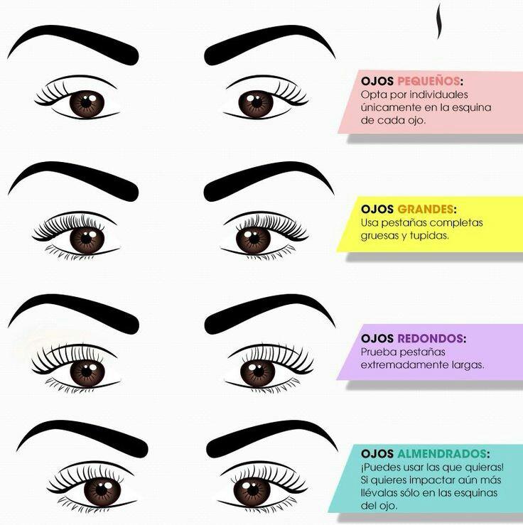 Mundo de chicas aprende a elegir las pesta as correctas for Distintas formas de maquillarse los ojos