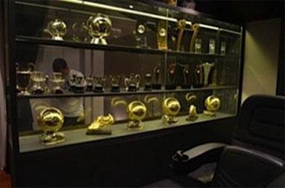 Balones de Oro de Messi vitrina