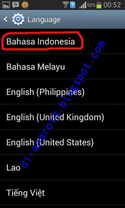 Cara Merubah Bahasa di Android