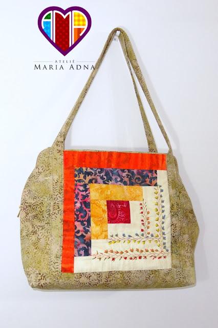 Bolsas em patchwork, Bolsas com bordados, Bolsas com patchwork e bordados