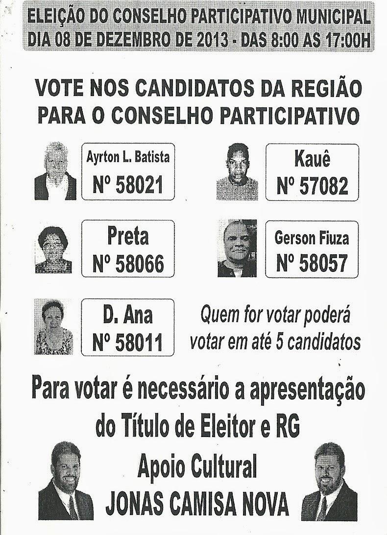 VOTAÇÃO DO CONSELHO PARTICIPATIVO