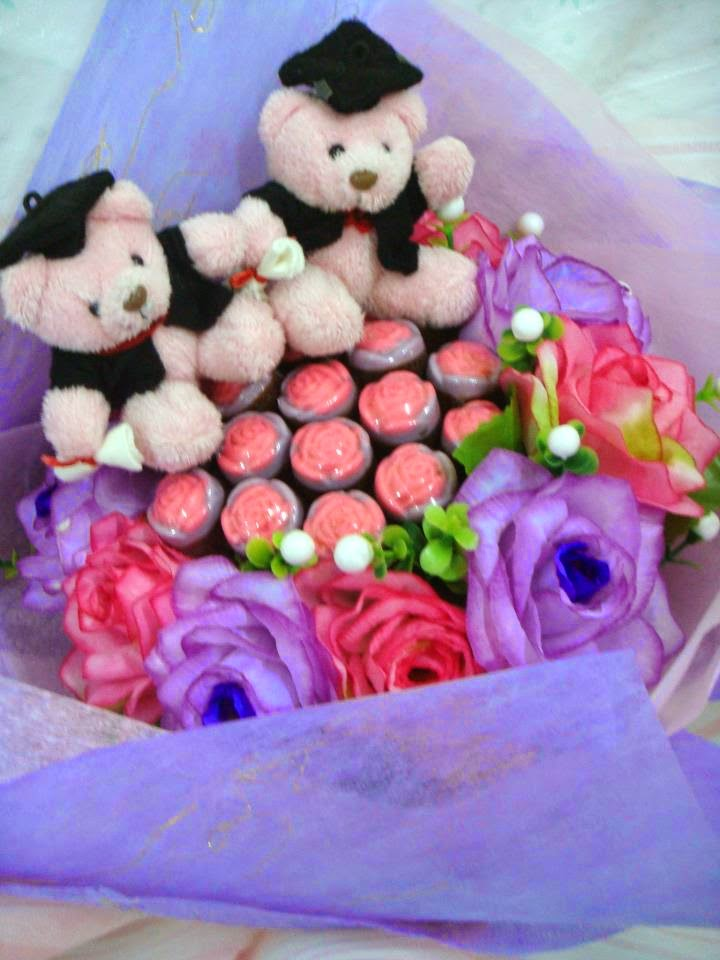 Chocolates Flower Bouquet with Convo Teddy
