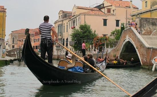 Gondola rides Venice Italy