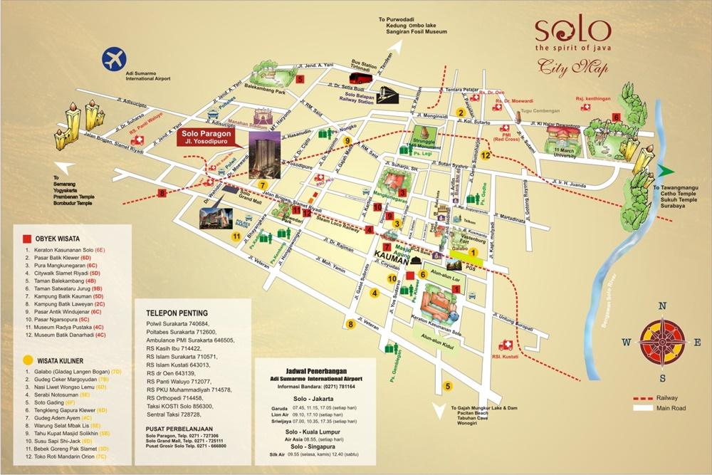 Map Solo Surakarta