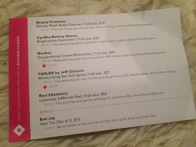 June 2015 Birchbox Product Card