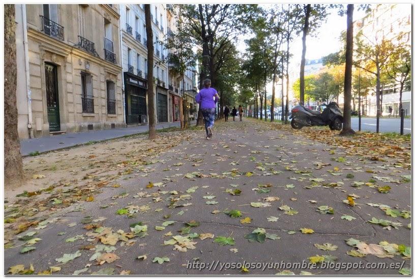 Corriendo por las calles de París