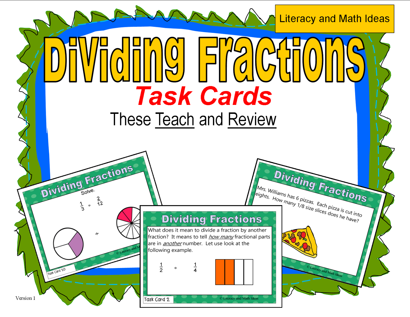 Literacy & Math Ideas: How To Divide Fractions How To Divide Fractions 7th  Grade Solution
