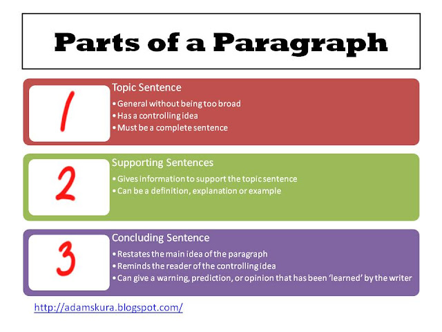 write right paragraph to essay