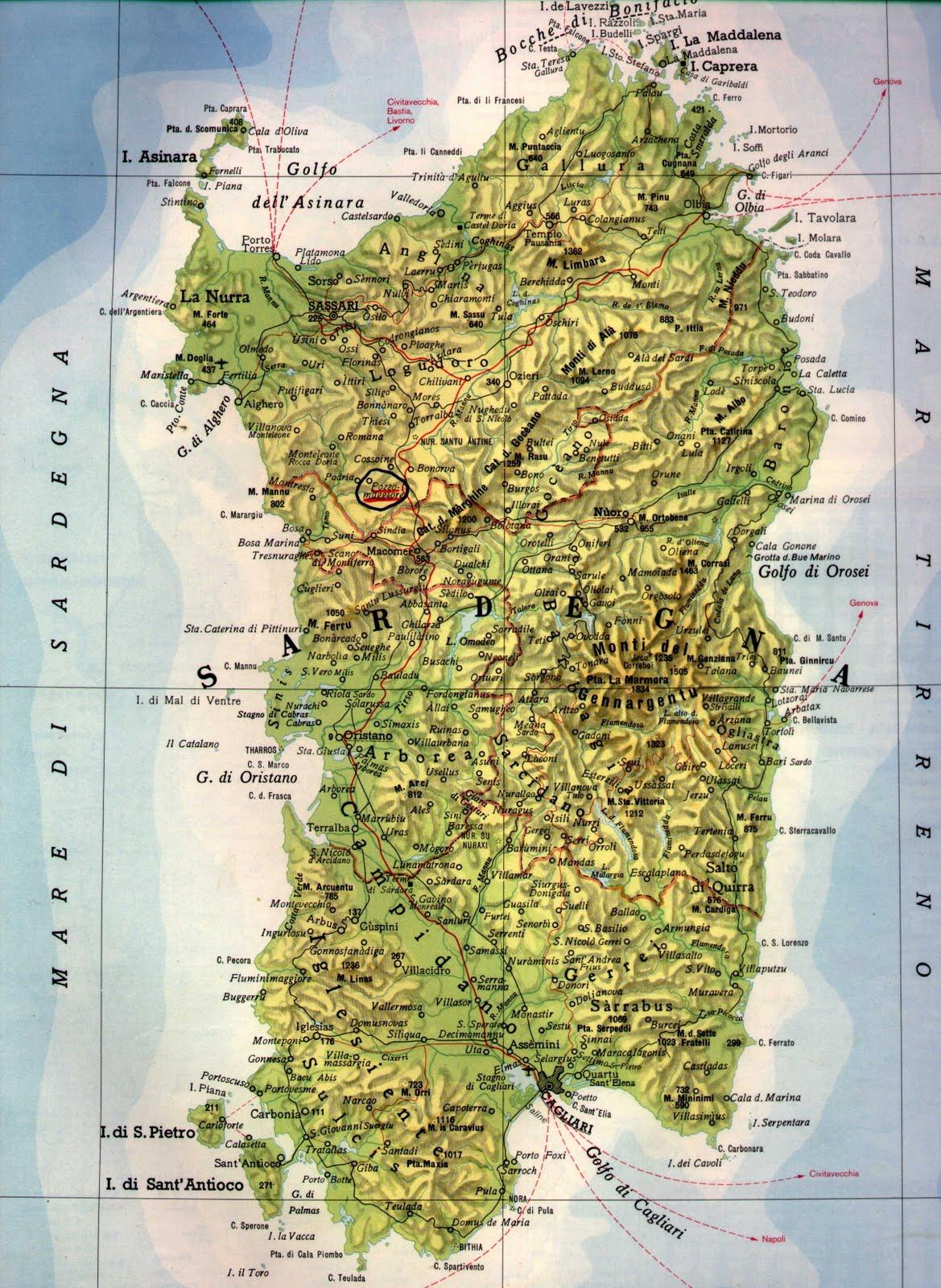 Cartina Sardegna Fisica Pieterduisenberg