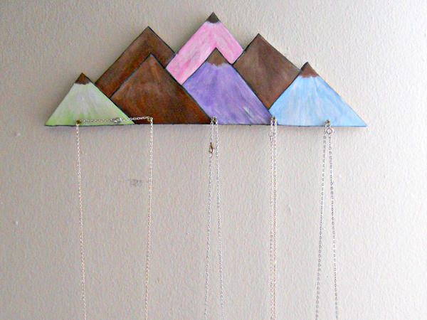 Mountain Jewelry Holder DIY