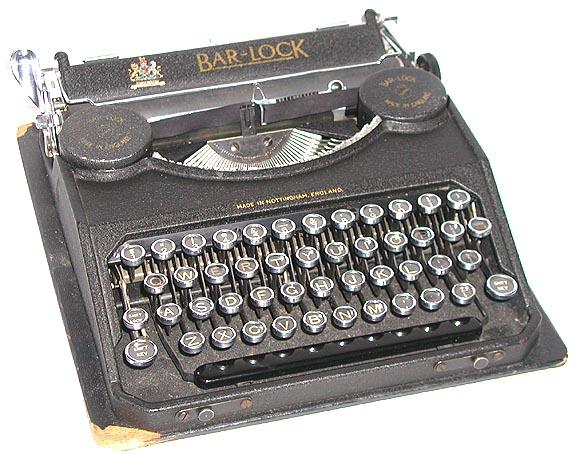 lock portable typewriter
