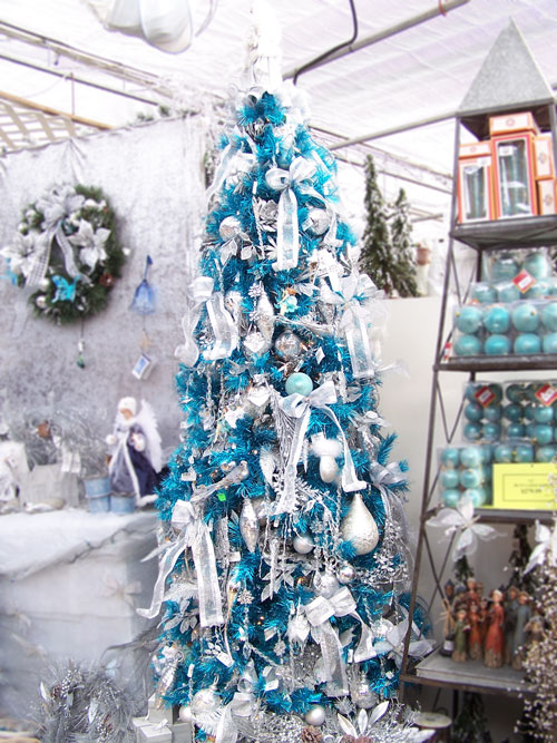 red white and green are favorite traditional christmas colors for decorating your tree and home at holiday time this silver and blue - White Christmas Tree With Blue And Silver Decorations