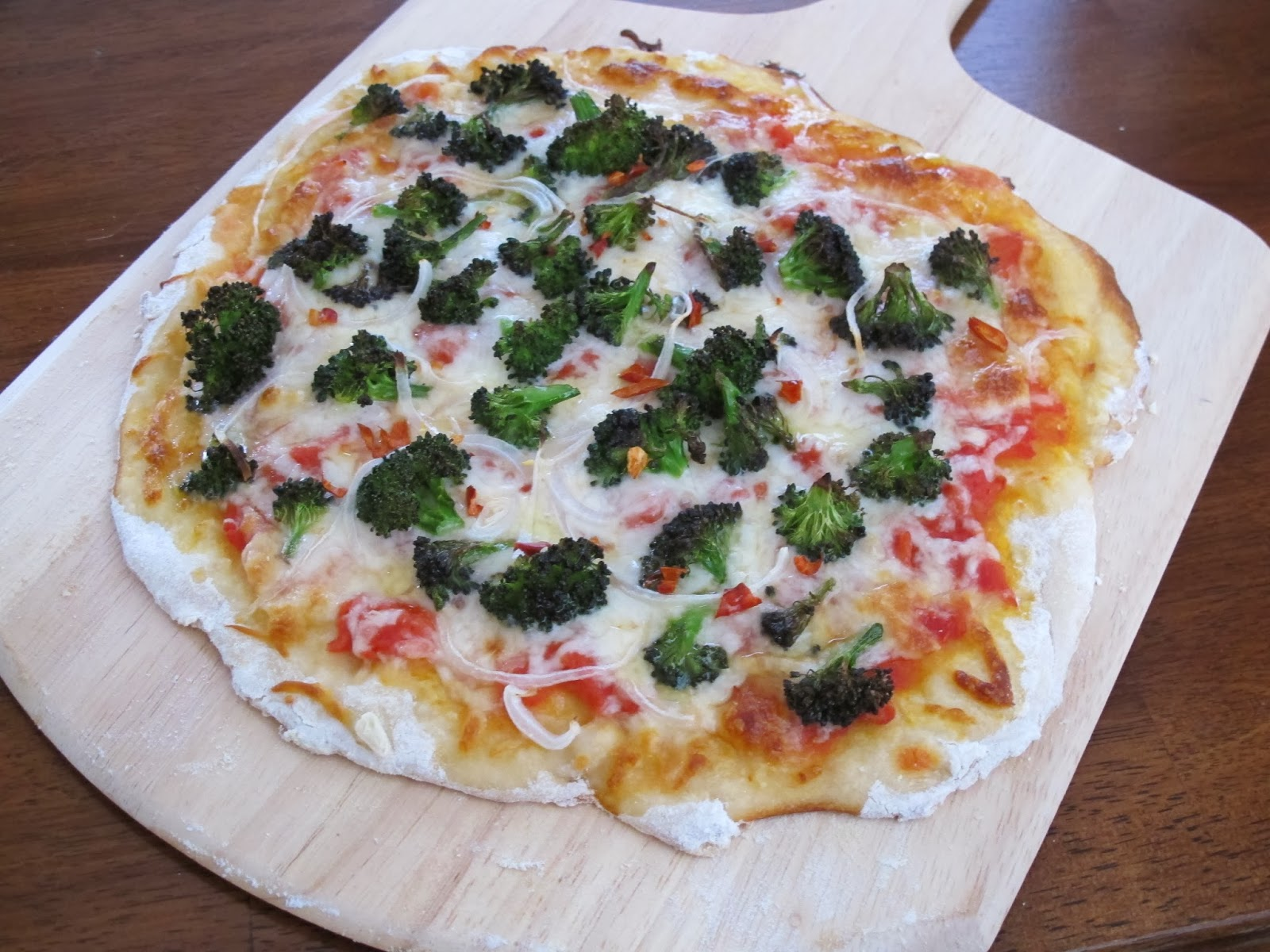 Spicy Broccoli Onion Pizza