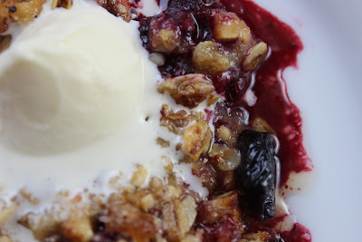 Brown Butter Triple Berry Crisp