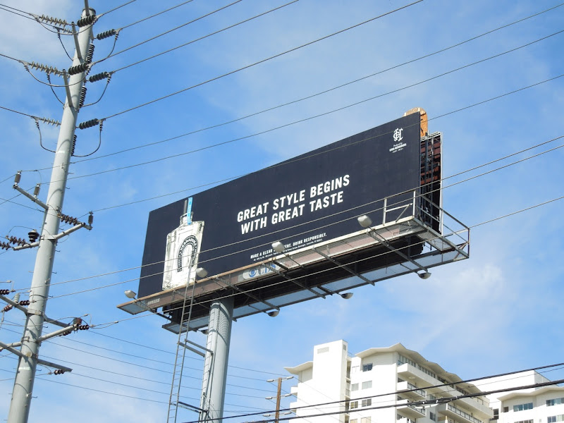 Herradura Tequila Great style begins with great taste billboard