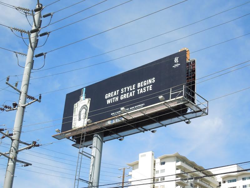 Herradura Tequila Great style begins with great taste billboard