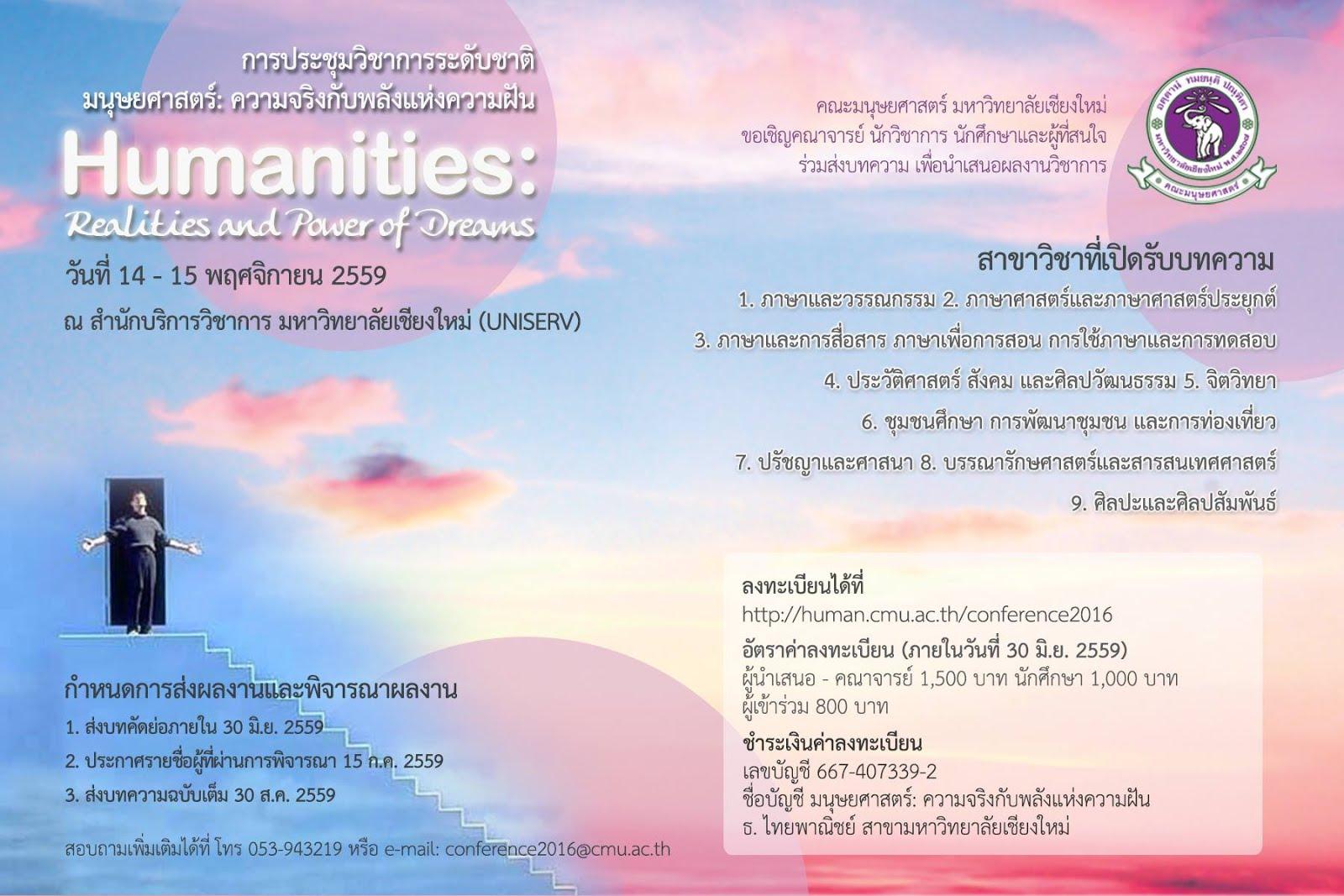 การประชุมวิชาการระดับชาติ / チェンマイ大学人文学部学術会議