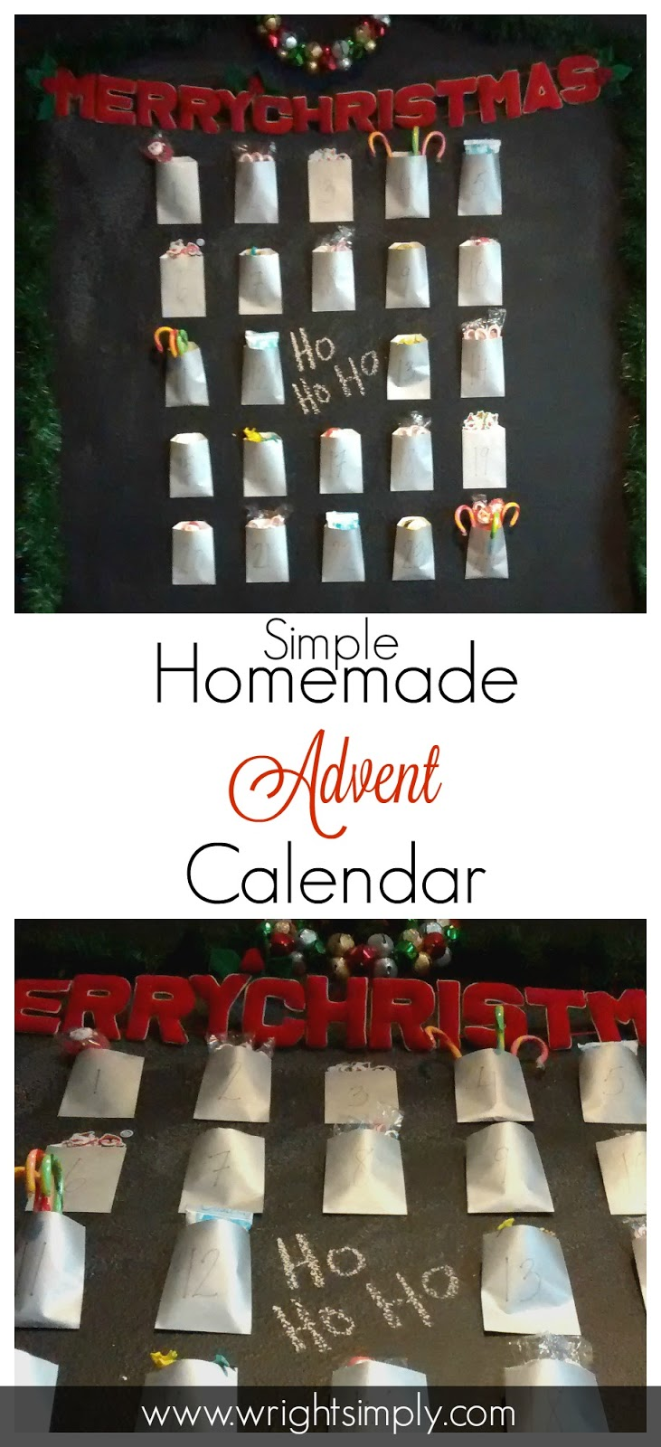 Homemade Calendar With Pictures : Simply wright simple homemade advent calendar