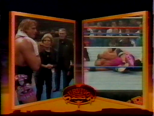 WWF / WWE - Survivor Series 1994: Owen Hart pleaded with his mother and father to throw the towel in on Bret's behalf