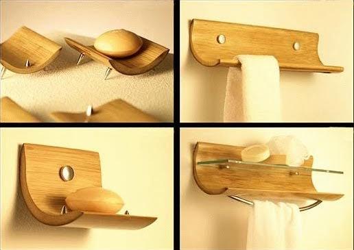Habitat indoors accesorios ba o bamb for Accesorios bano bambu