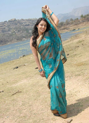 nikitha in saree hot images