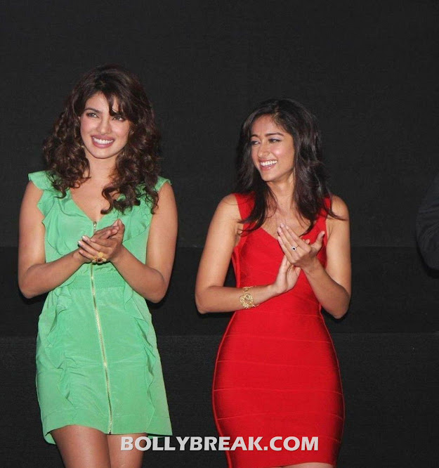 Priyanka Chopra & Ileana D'cruz @ launch of theatrical trailer of Barfi