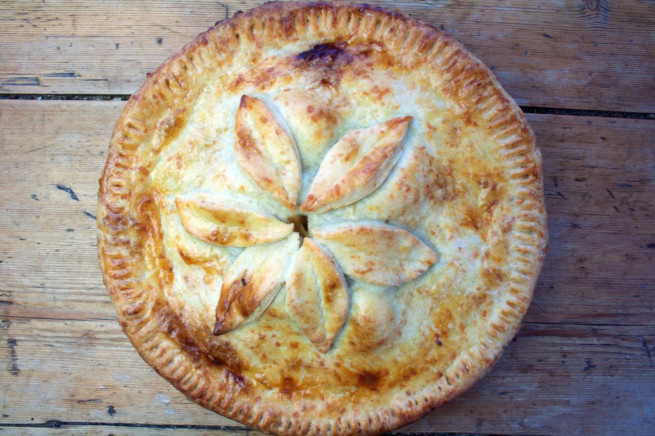 Belleau Kitchen: bramley apple and sausage pie