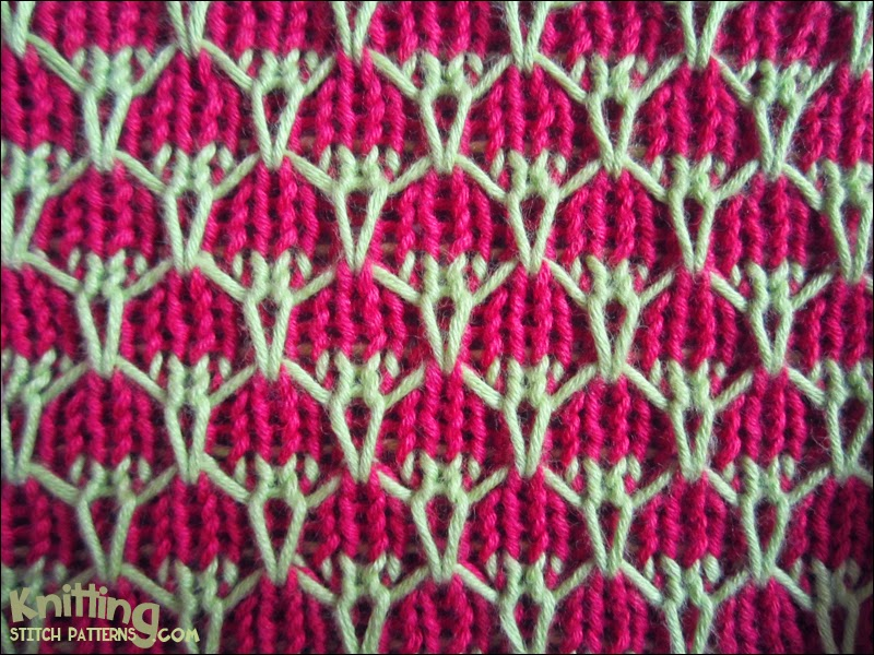 Two-color Mock Honeycomb | Knitting Stitch Patterns
