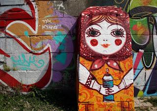 Grafiti en Ekaterimburgo, transiberiano 2015
