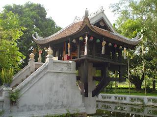 A single pillar Pagoda