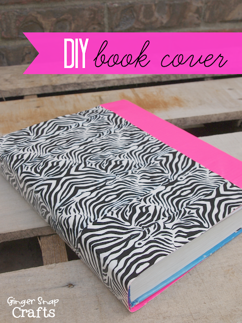 ginger snap crafts diy book cover with duck tape