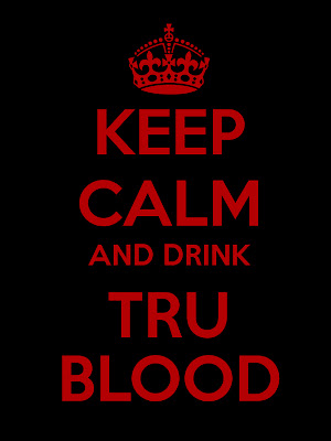 Keep Calm And Drink Tru Blood beer bottle labels@northmanspartyvamps.com