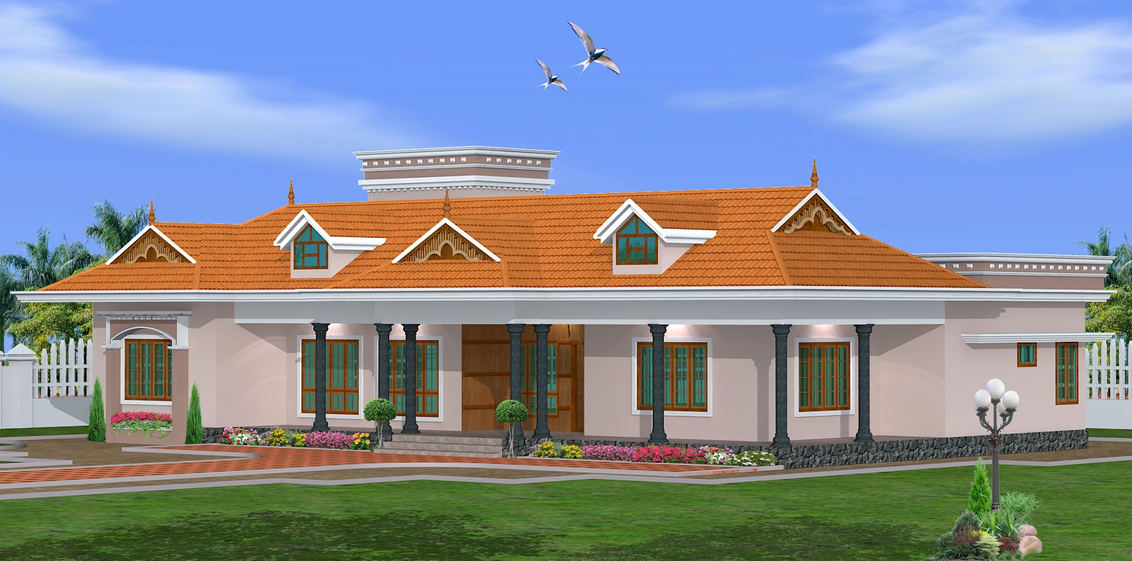 Green Homes Kerala Single Storey House Design 2800 Sq Feet