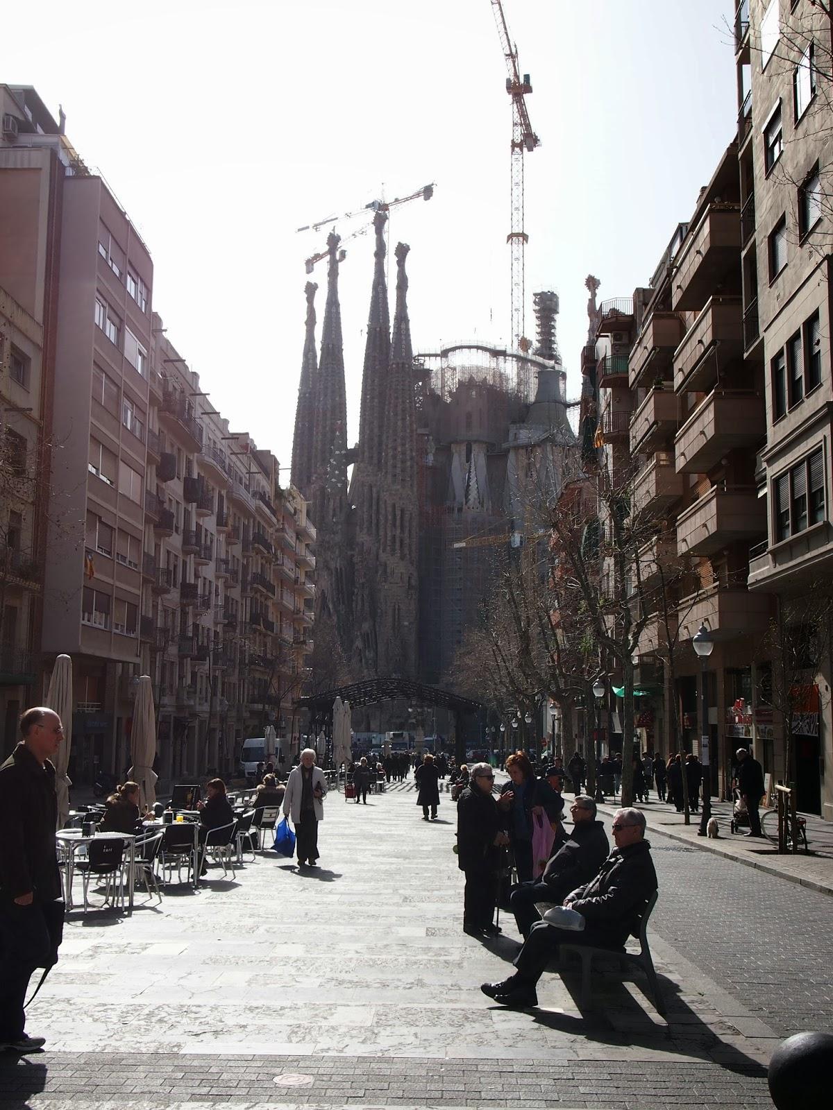 Walking away from La Sagrada Familia