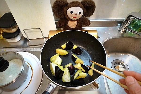 豚肉ナストマ炒めごはんの作り方(1)