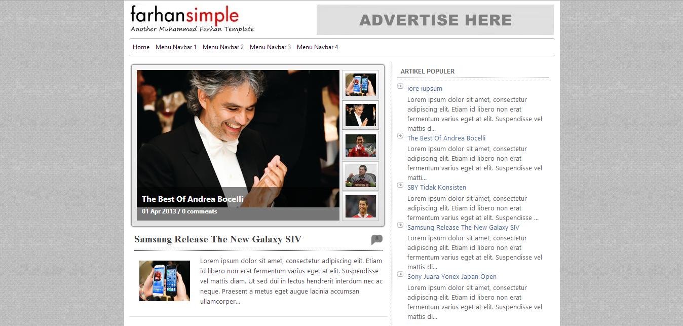 farhan simple blogger template cool blog templates premium