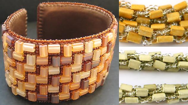 Oblongs czech seed beads beading examples Работы из чешского бисера Oblongs