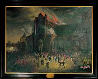 De brand van de Sint-Salvatorskathedraal in 1839
