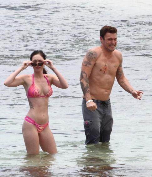 Megan Fox Pink Bikini Pics - Father's Day Celebration