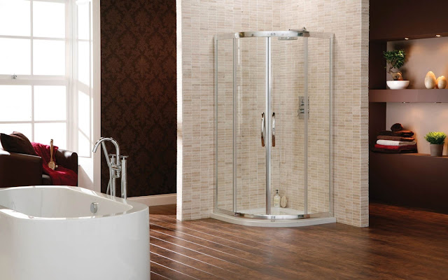 Smart Bathroom Shower And Luxury Design Wallpaper