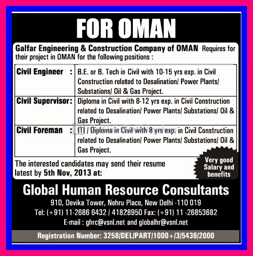 Galfar Engineering Amp Construction Company Oman Gulf Jobs