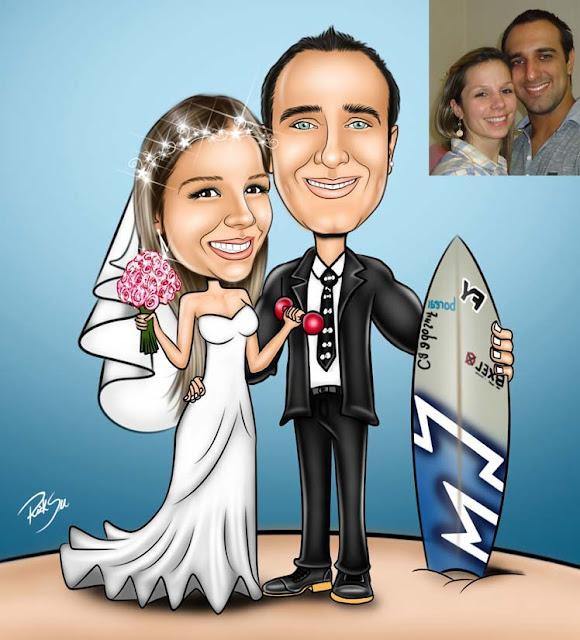 Ele gosta de surf e ela de malhar