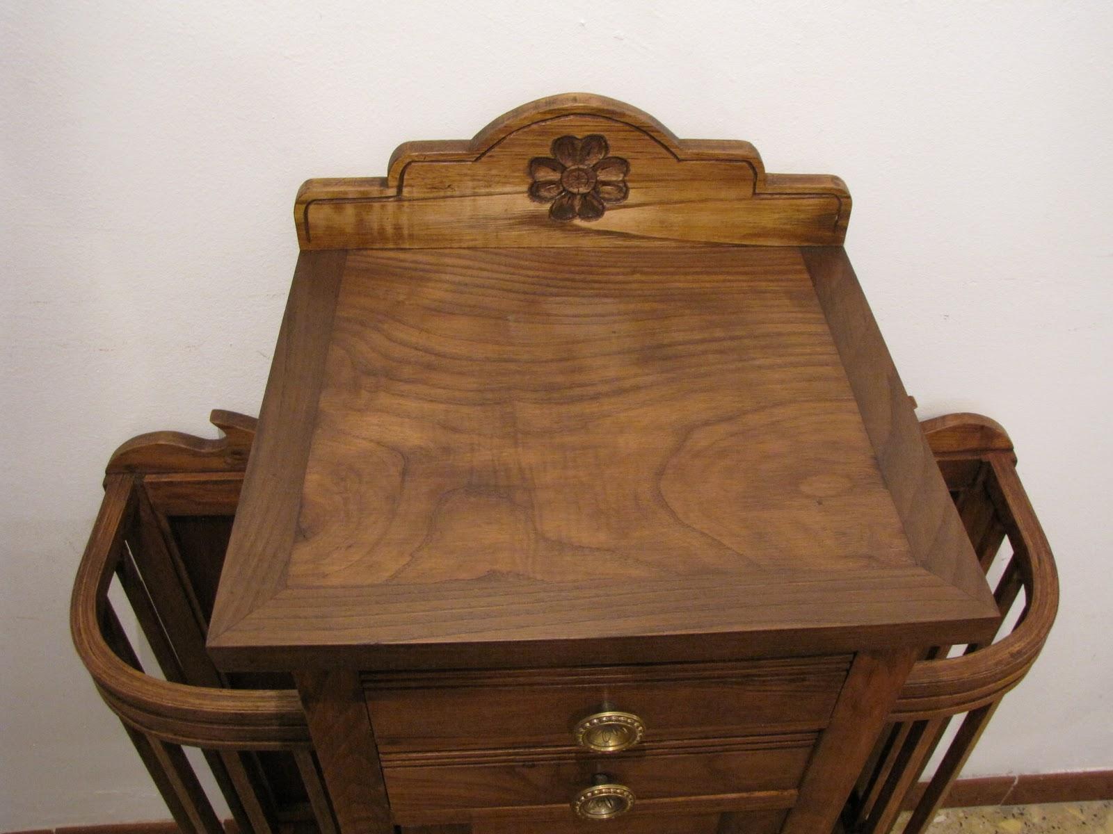 Muebles de madera restaurada bastonero de casta o restaurado - Muebles de castano ...
