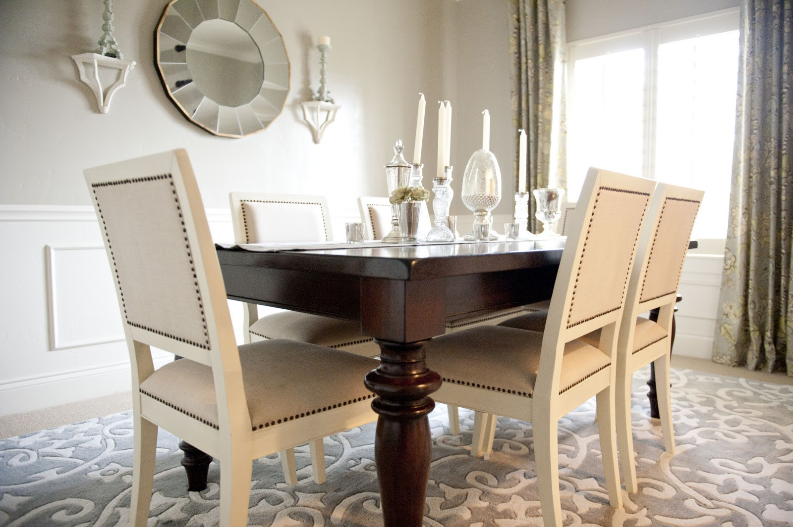 Sita montgomery interiors my home tour entry and dining room for Dining room entrance designs