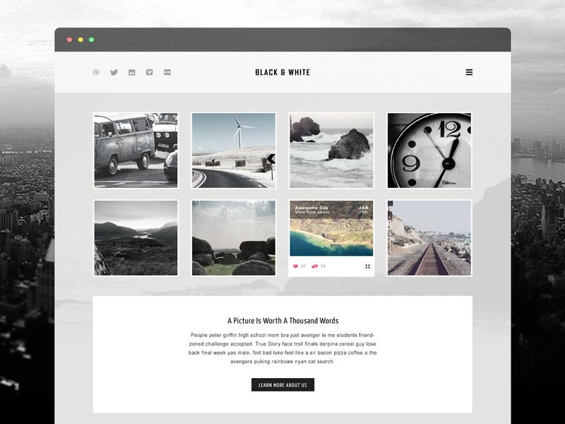 Free Website Template PSD BOX