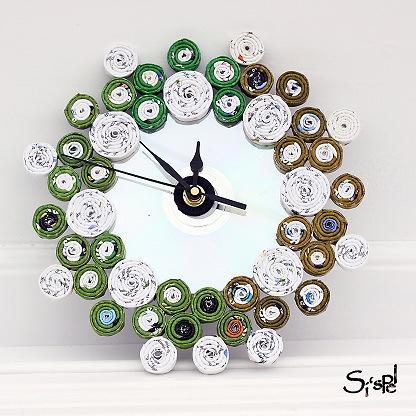 Decoraci n f cil un reloj con objetos reciclados - Objetos de reciclaje ...