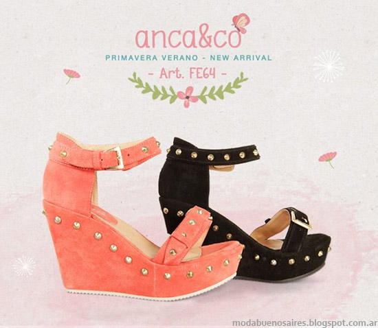 Sandalias con plataformas 2014 Anca & Co primavera verano 2014.