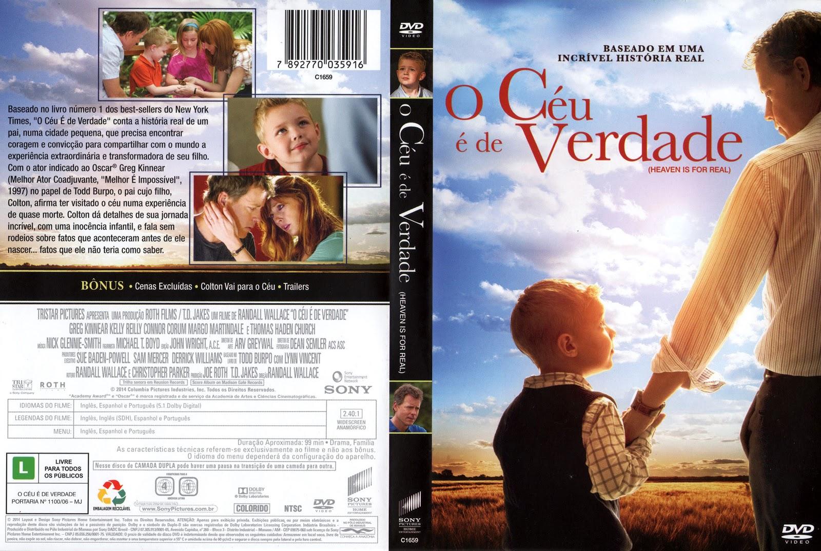 Capa DVD O Céu É De Verdade